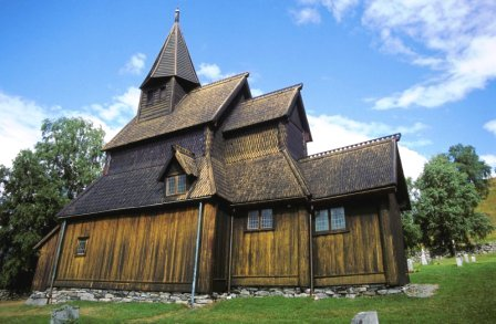 norwegian stave church using rain screen technology