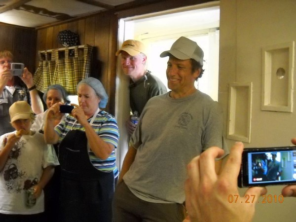 Mike Rowe at Hughes Delaware Maid Scrapple on Dirty Jobs