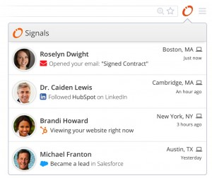 Hubspot Signals Email Notification