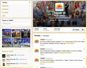 Today Show Twitter Profile