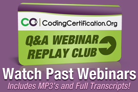 Medical Coding Webinar Replay Club
