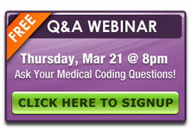 March 2013 Medical Coding Webinar
