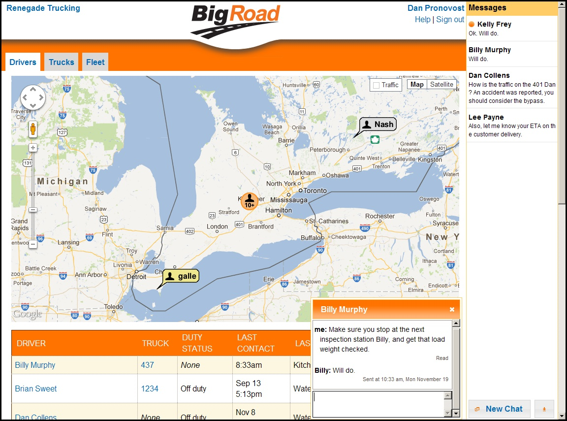BigRoad Saves You Money: Better decisions with fleet tracking in real time