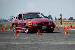 Autocrossing Mustang by Randy_f