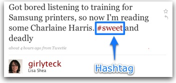 Twitter explanation of hashtag