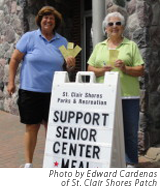 St. Clair Shores Senior Activity Center Fundraising Organizers Cindy Siterlet and Linda Trethewey