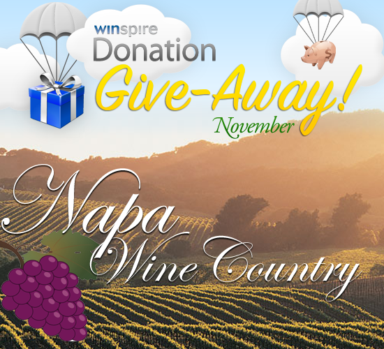 Winspire November Give-Away: Napa Wine Country
