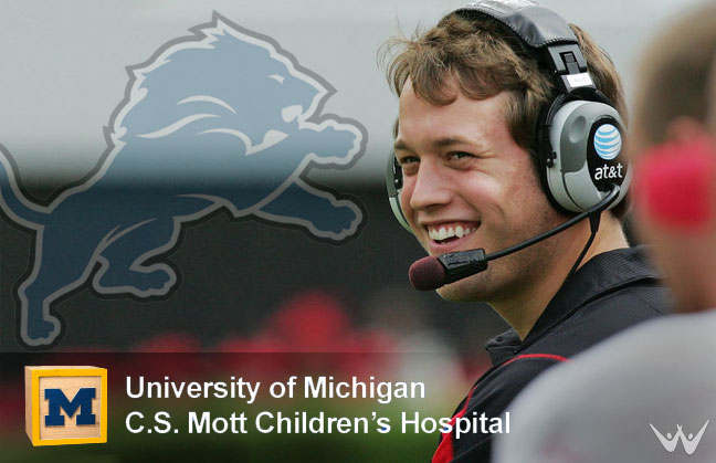 Matthew Stafford Smiles After Donating $15,000 Auction Item
