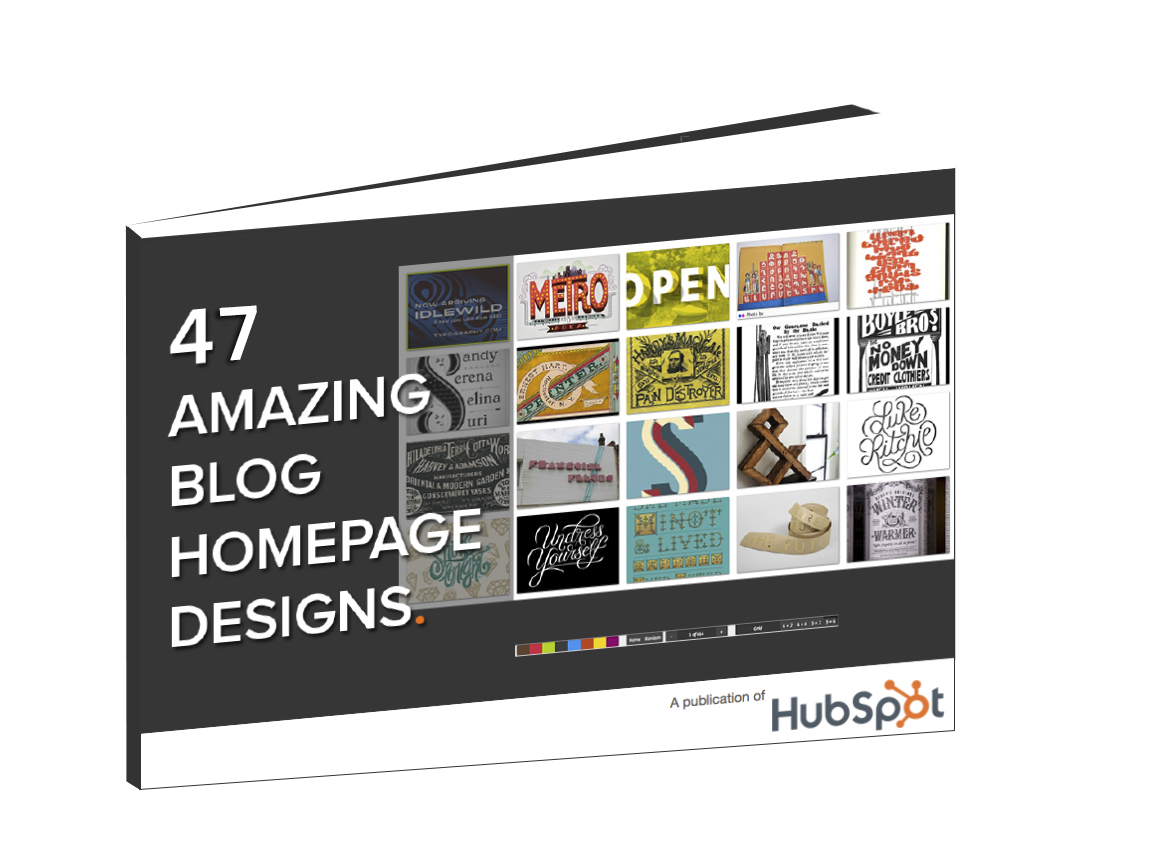 Download  Free Collection: 47 Amazing Blog Homepage Designs