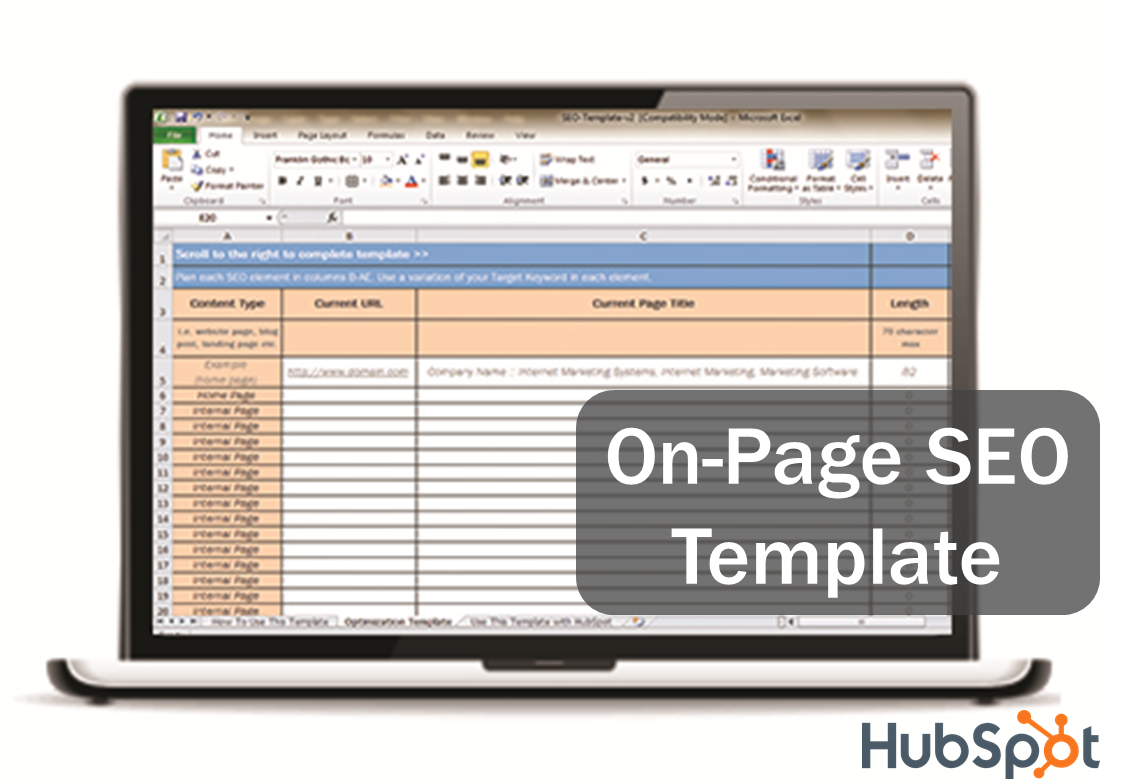 Download HubSpot's Free SEO Template