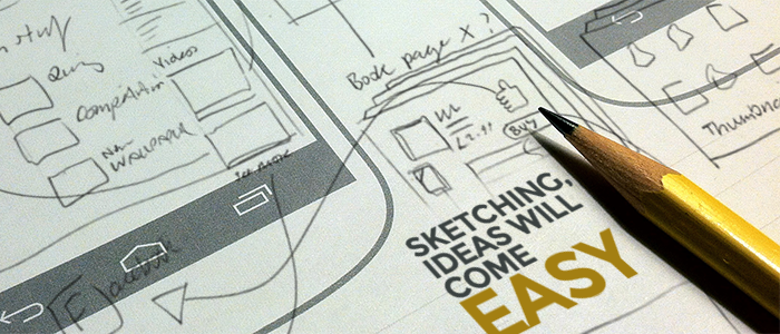 Start uxui from the blueprints for better mobile app development sketching for mobile development malvernweather Images