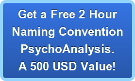 Get a Free 2 Hour Naming Convention Psychoanalysis. A 500 USD Value!
